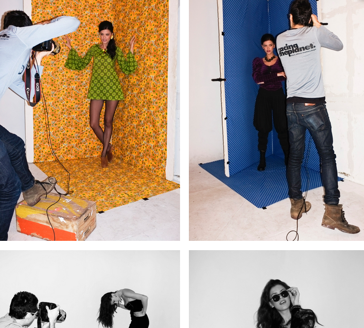 Shooting in my Brooklyn studio in for Manhattan Vintage. Photos by Adam Ornstein.