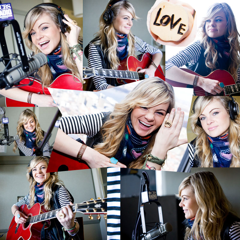 Caitlin Crosby at CBS Radio. Photos by Zandy Mangold © 2009