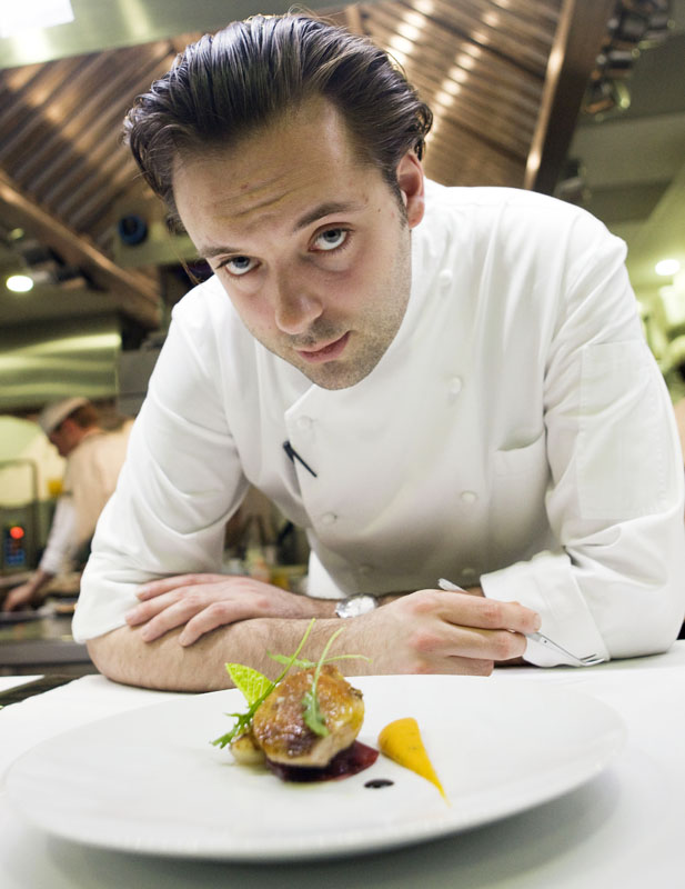 Chef Paul Liebrandt.  Photo by Zandy Mangold © 2009