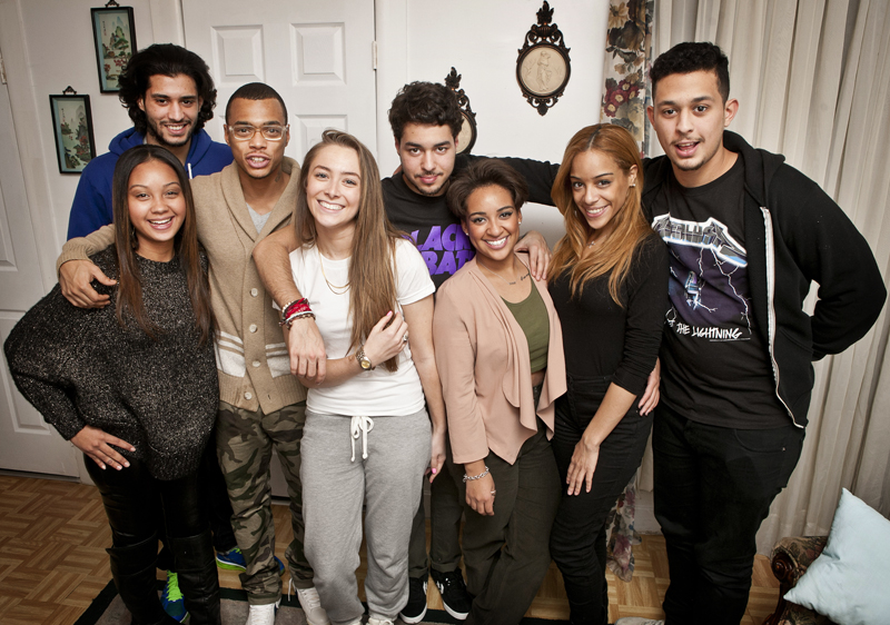 "Cast of MTV's ""The Heights,"" Washington Heights, NY, NY. Photo By Zandy Mangold. ©2013"
