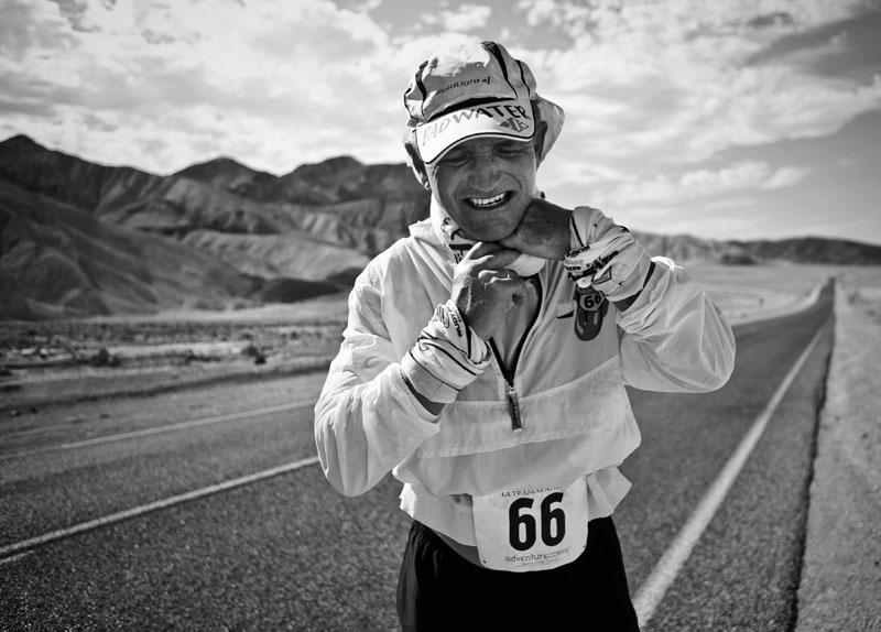 Eberhard Frixe, Badwater Ultramarathon, Death Valley, CA. Photo By Zandy Mangold. ©2013