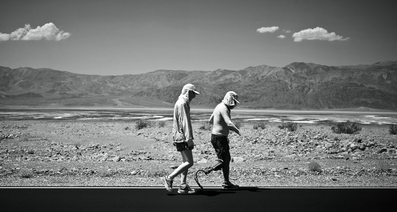 Chris Moon, Badwater 135, Death Valley, CA. Photo By Zandy Mangold. ©2013