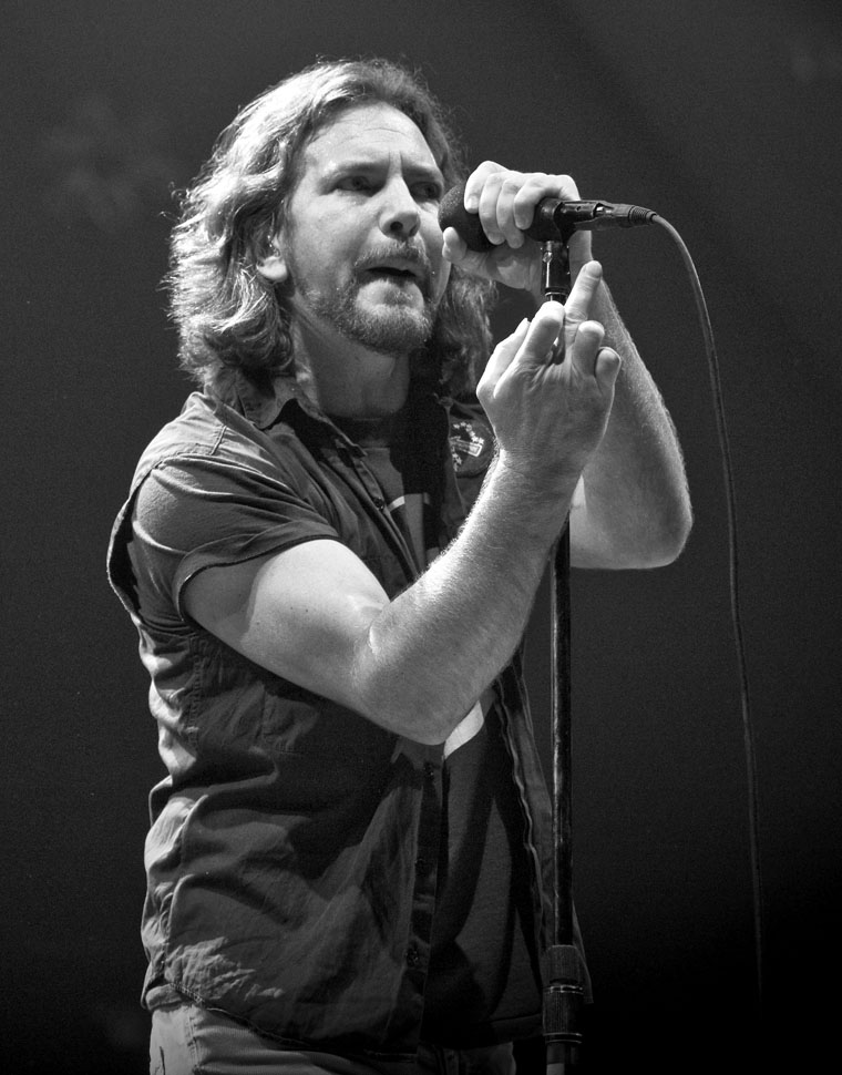 """Hay Congress..."" Eddie Vedder, Pearljam. Photo By Zandy Mangold. © 2013"