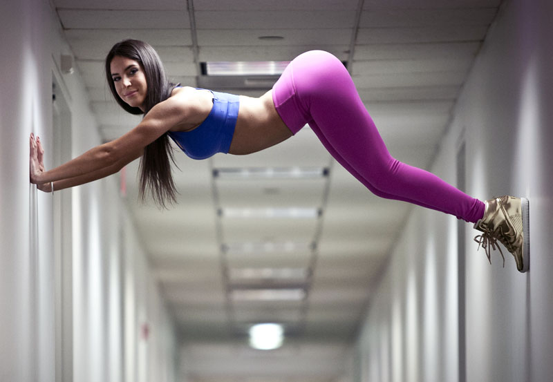 Jennifer Selter, Seltering In The Hallway. NY, NY. Photo By Zandy Mangold. © 2014