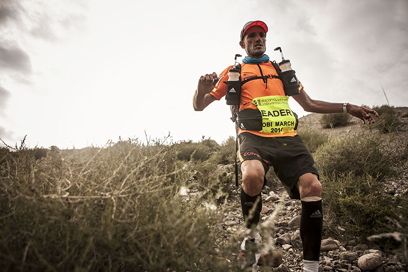 Chema Martinez, Champion of Racing The Planet Gobi March 2014, Photo By Zandy Mangold. © 2014