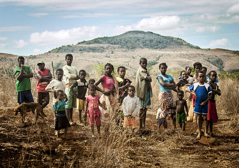 Subsistence Farmers' Family Portrait, Madagascar. Photo By Zandy Mangold. © 2014