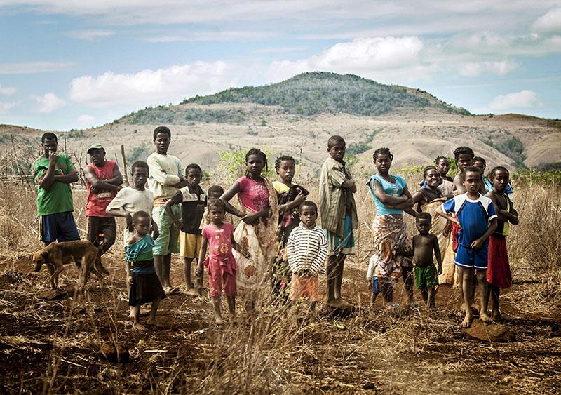 Subsistence Farmers' Family Portrait, Madagascar. Photo By Zandy Mangold. © 2014