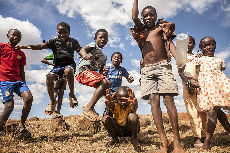 Kids Jumping in Madagascar. Photo By Zandy Mangold. ©2014